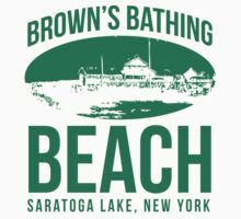 Brown's Beach of Saratoga Lake Cool Vintage T-Shirt by Albany Retro