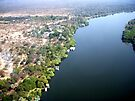 Aerial upstream from Victoria Falls, Africa by Margaret  Hyde