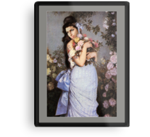 Amy Winehouse in a Rose Garden  Metal Print