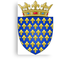 Coat of Arms of the Kingdom of France (-1305; 1328–1376) Canvas Print