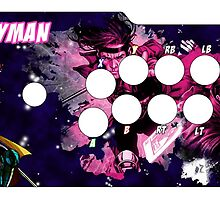 Fight Stick Template Request #2 - Gambit by Gabriel Gutierrez