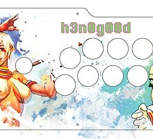 Fight Stick Template Request #4 - H3n0g00d by Gabriel Gutierrez