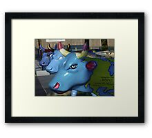 Three Cows on Parade, Ebrington Sq, Derry Framed Print