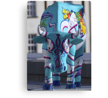 Painted Cow by Cathedral Youth, Ebrington Square Derry Canvas Print
