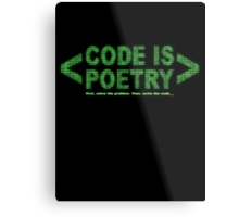 Code Is Poetry Metal Print