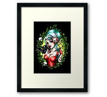 Black Lilly Framed Print