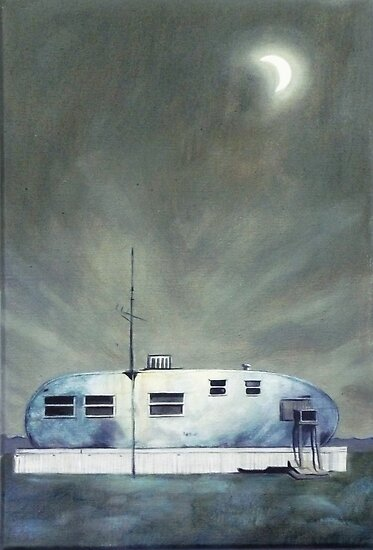 Trailer Painting by kathy archbold