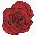 Open Red Rose by LastLittleBird