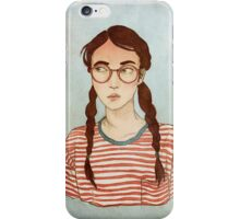 Stripes and Glasses iPhone Case/Skin