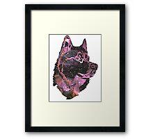 Space Husky Framed Print