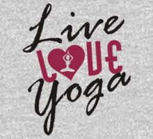 Live, Love, Yoga Kids Clothes