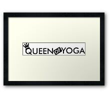 Queen of yoga Framed Print
