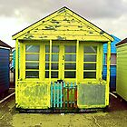 beach hut by kathy archbold