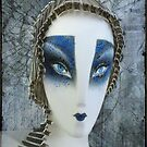 painted schlappi head by kathy archbold