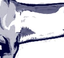 Achtung Dachshund blue Sticker