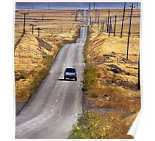 A Country Road in the Foothills Near Coalinga Oil Country Poster