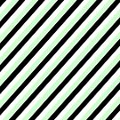 Mint Green Black White Stripe Pattern Pillow by red addiction