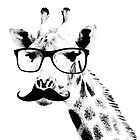 Giraffe with beard and glasses by SeijiArt