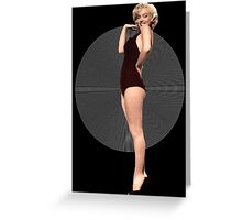 Marilyn To The Moon Greeting Card