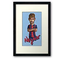 Neymar-Barcelona Framed Print