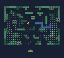 Blockade of the Pac-Man Invaders in the Tetris Dimension! by Lyubomir Gizdov