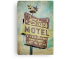 The Stars Motel Canvas Print