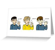 Star Trek Text Talk  Greeting Card