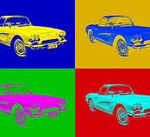 1962 Chevrolet Corvette Convertible Pop Art by KWJphotoart