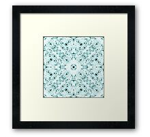 """Spirit of India: Two Crosses"" in white and turquoise Framed Print"