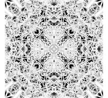 """""""Spirit of India: Fleur and Cross"""" in white, grey and black Photographic Print"""