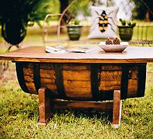 Cask Wooden Table by Vintagee