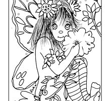 Color-Me Garden Faery by Robin Pushe'e