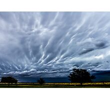 Afternoon Clouds (Dying mammatus) Photographic Print