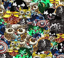 Marvel Owl Collage by AderynValentine