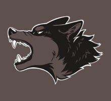 Angry Wolf Tee (Transparent) by etuix