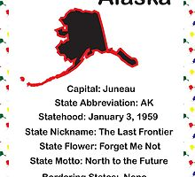 Alaska State Fact Poster by ValeriesGallery