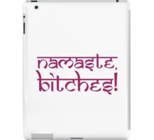 Namaste Bitches Lotus Pink iPad Case/Skin