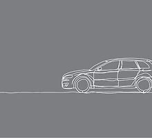 Audi A3 - Single Line by douglaswood