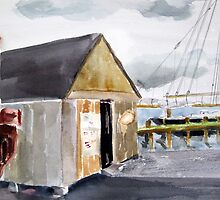 Harbor Loop, Gloucester, MA by watercolors1