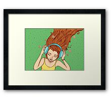 Summer, music and relax Framed Print