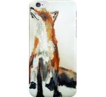 The Fox Woodland Wild Animal Acrylics Painting iPhone Case/Skin