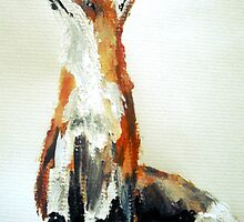 The Fox Woodland Wild Animal Acrylics Painting by JamesPeart