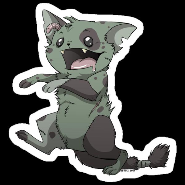 Zombie Kitty by etuix