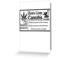 Zion's Lions Cannabis Greeting Card