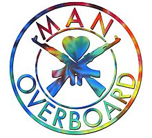 Man Overboard Tye Dye Photographic Print