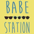 Babe Station: Blue by jabbershire