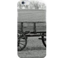 Old buckboard wagon iPhone Case/Skin