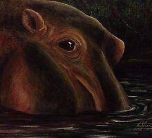 Happy as a Hippo by ksimmonsluna