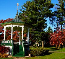 Gazebo at Hoopes Park, Auburn, New York by Mary Ellen Tuite Photography