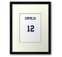 Doctor Who Sports Shirt- CAPALDI Framed Print